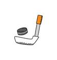 ice hocket cartoon icon theme vector image