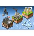 Isometric Infographic Petroleum Energy Harvesting vector image