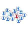 social cloud infection spread concept vector image