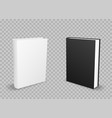 black and white standing books vector image