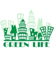 Green town vector image