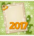 scrapbooking card 2017 vector image