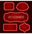 Shining retro banner with lights vector image