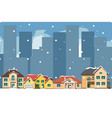 the city in christmas urban landscape vector image