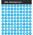 100 webdesign icons vector image vector image