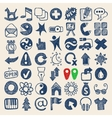 49 hand drawing doodle web icons collection vector image vector image