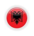 Albania icon circle vector image vector image
