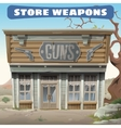 Antique weapon shop in the wild West vector image vector image