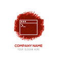 application window interface icon - red vector image