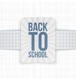 Back to School festive Label on paper Ribbon vector image