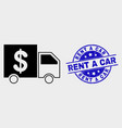 banking delivery icon and scratched rent a vector image vector image
