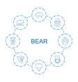 bear icons vector image vector image