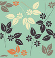 beautiful seamless pattern with colorful floral vector image