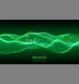 big data green wave visualization futuristic vector image vector image