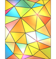 Bright Stained Glass Abstract Background vector image