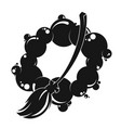 broom and drops of water silhouette vector image vector image