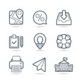 business finance pack icons eps 10 vector image vector image