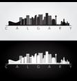 calgary skyline and landmarks silhouette vector image vector image