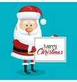 card christmas santa claus with blue sky vector image vector image