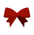 christmas red bow decoration ornament design vector image