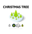 christmas tree icon in different style vector image