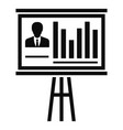 conference banner icon simple style vector image
