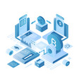 cryptocurrency exchange platform isometric vector image vector image
