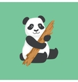 Cute Panda Character With Piece Of Wood vector image vector image