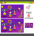 differences game with clown characters vector image vector image