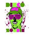disco zombie vector image