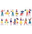 diverse shopping people online shopping male vector image vector image