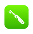 electric toothbrush icon green vector image vector image