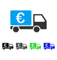 euro collector car flat icon vector image vector image