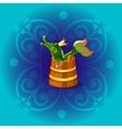Fabulous Russian folk character pike vector image vector image