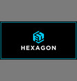 fh hexagon logo design inspiration vector image vector image