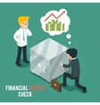 Financial health check isometric 3d vector image vector image