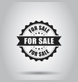 for sale grunge rubber stamp on white background vector image vector image