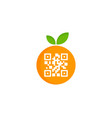 fruit barcode logo icon design vector image