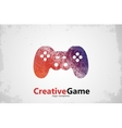 game logo design joystick logo Game pad design vector image