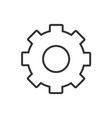 gear line icon on a white background vector image vector image
