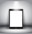 generic electronic tablet on a spotlit background vector image vector image