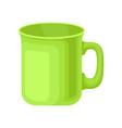 green ceramic tea mug on a vector image vector image