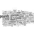 how to avoid those holiday pounds vector image vector image