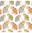 Indian elephant seamless pattern vector image vector image