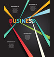 infographic business connection line vector image