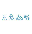 insurance health care icon set online doctor vector image