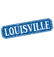louisville blue square grunge retro style sign vector image vector image