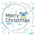 merry christmas from the flat design 2018 dog vector image vector image