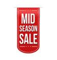mid season sale banner design vector image vector image