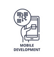 Mobile development line icon concept mobile